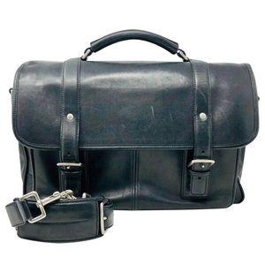 Coach 6455 Thompson Leather Briefcase Black